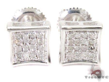 Prong Diamond Earrings 26973 Metal