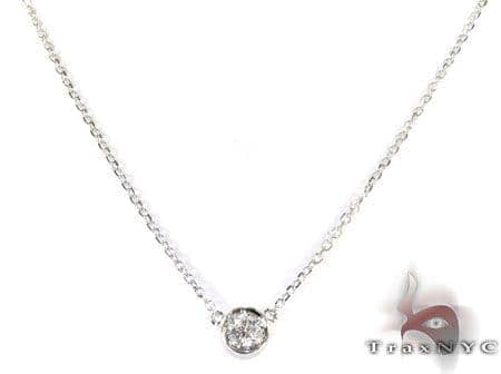 Bezel Diamond Necklace 27073 Diamond