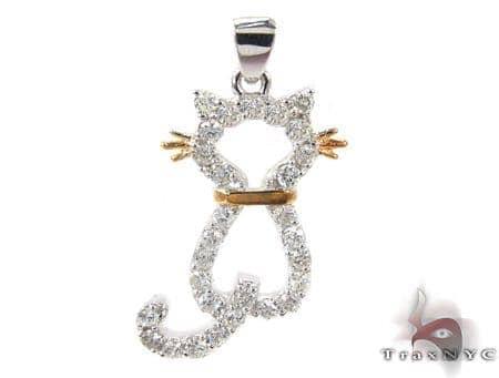 Cat Diamond Pendant Stone
