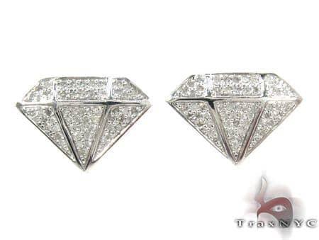 Gem Figure Diamond Earrings Metal