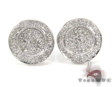 Button Diamond Earrings Metal