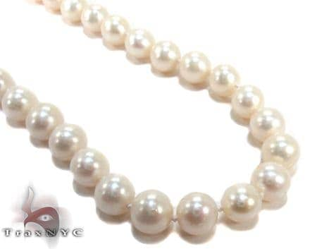 White Pearl Necklace 27183 Pearl