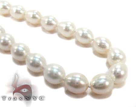 White Teadrop Pearl Necklace 27185 Pearl