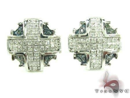 Silver Aztec Earrings Metal