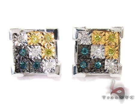 Kingdom Silver Diamond Earrings Metal