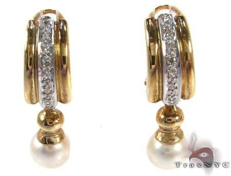 Royal Pearl Earrings 2 Stone