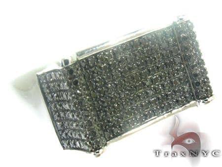 Silver Black Diamond Ring 27429 Metal