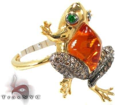 Toad citrine & garnet Diamonds Ring Anniversary/Fashion