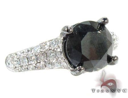 Prong Black Diamond Ring Engagement