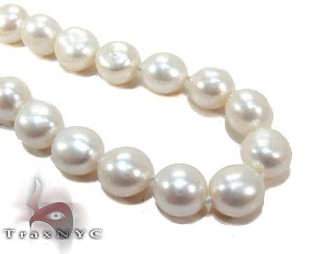 White Pearl Silver Necklace 27608 Pearl