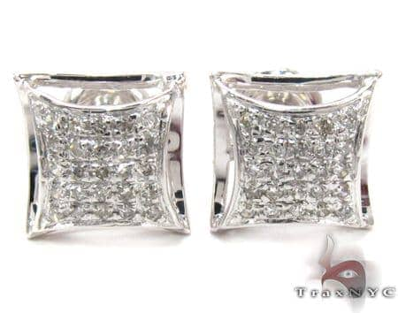 Prong Diamond Earrings 27644 Metal