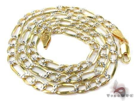 Figaro Diamond Cut Silver Chain 18 Inches, 4mm, 11.7 Grams Silver