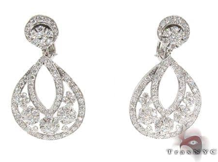 Snowflake Diamond Earrings Stone