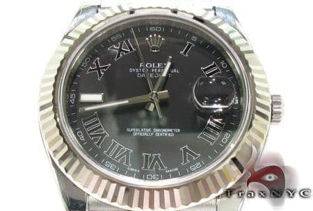 Rolex Datejust II Steel and White Gold 116334