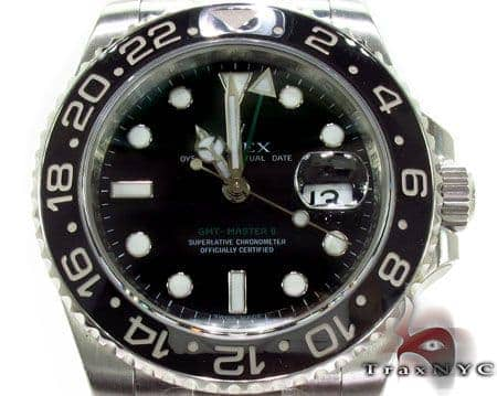 Rolex GMT Master II Steel 116710 Diamond Rolex Watch Collection