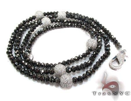 Black and White Diamond Chain 32 Inches, 10mm Diamond