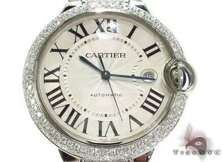 Cartier Ballon Bleu Stainless Steel Diamond Watch Cartier