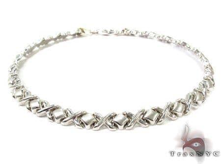 14K White Gold X Bracelet Gold