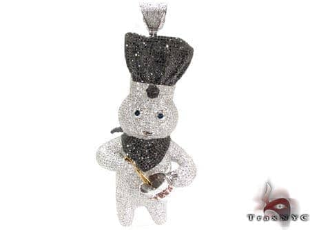 Custom Dough Boy Pendant Diamond Pendants