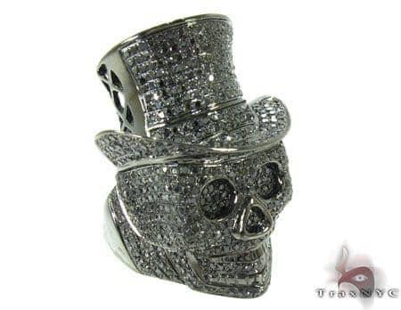 Rich Boy Skull Diamond Ring Stone