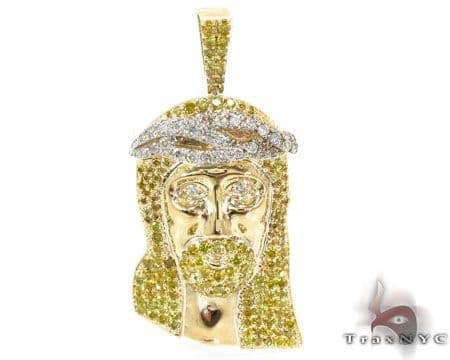 Custom jesus pendant mens diamond pendant yellow gold 10k round cut custom jesus pendant mozeypictures Image collections