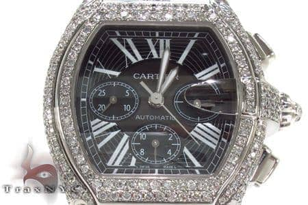 Cartier Roadster XL Chronograph Black Dial Diamond Watch Cartier
