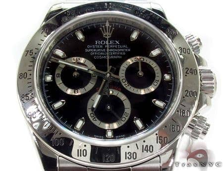 Pre-Owned Rolex Daytona Steel 116520 Diamond Rolex Watch Collection