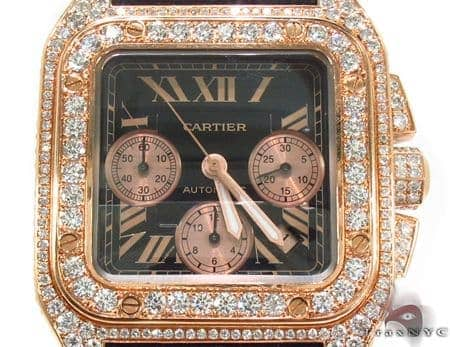 Cartier Santos 18K Rose Gold Watch Cartier