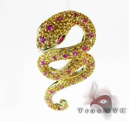Multi Color Snake Pendant Stone