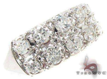 Mens White Gold Opulent Diamond Wedding Ring Stone