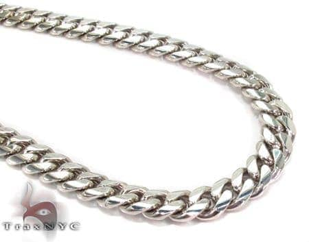 14K Heavy Miami Cuban Link Chain 32 Inches 8mm 148.3 Grams Gold