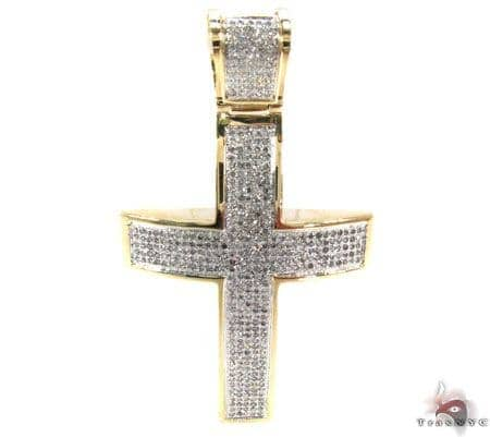 Prong Diamond Gold Cross 30892 Diamond
