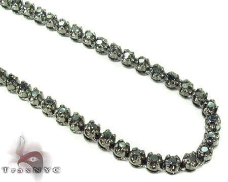 Black Diamond Chain 30 Inches 3.5mm 48.7 Grams Diamond