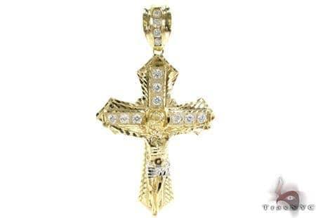 10K Gold Cross 31050 Gold