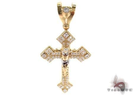 10K Gold Cross 31059 Gold