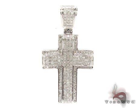 Silver Diamond Cross 31134 Silver
