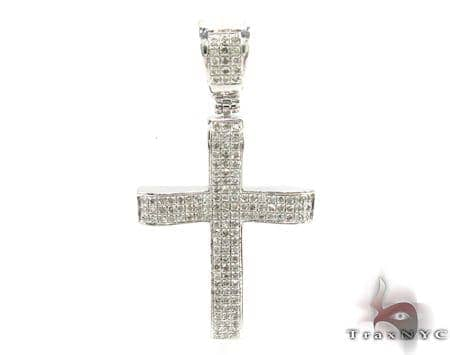 Silver Diamond Cross 31138 Silver