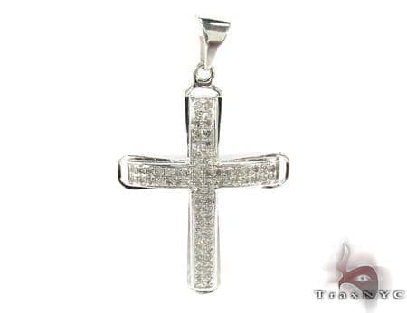 Silver Diamond Cross 31139 Silver