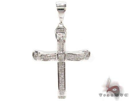 Silver Diamond Cross 31205 Silver