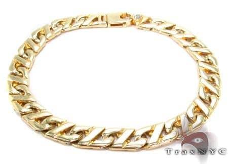 14K Gold Fancy Bubble Mariner Bracelet 31275 Gold
