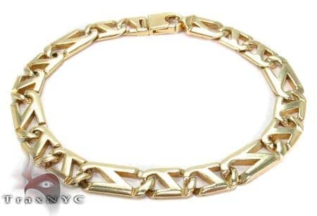 14K Gold Fancy Figaro Bracelet 31278 Gold