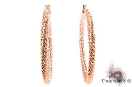 14K Gold Hoop Earrings 31331 Metal