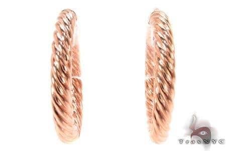 14K Gold Hoop Earrings 31334 Metal