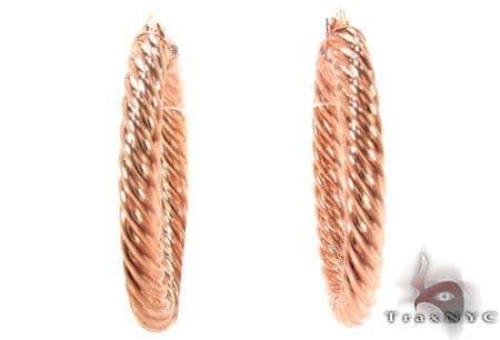 14K Gold Hoop Earrings 31343 Metal