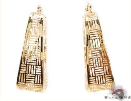 14K Gold Square Hoop Earrings 31354 Metal