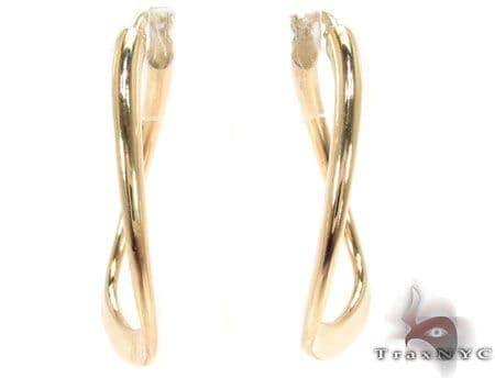 14K Gold Hoop Earrings 31360 Metal