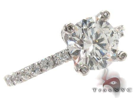 18K Gold Prong Diamond Wedding Ring 31386 Engagement