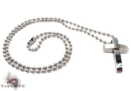 Stainless Steel Cross Chain 24 Inches 3mm 19.20 Grams Stainless Steel