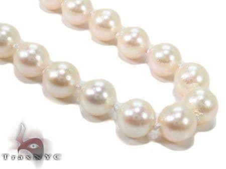 Cream 1 Strand Pearl Necklace 31454 Pearl