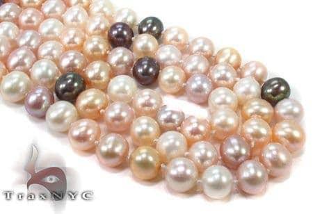 3 Strand Combination Color  Pearl Necklace 31457 Pearl